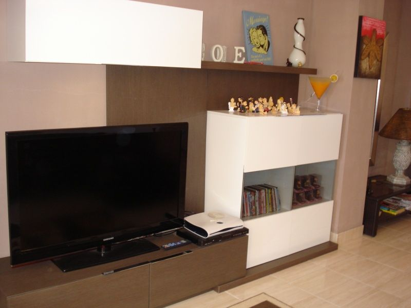 Large flat screen TV with sky free TV and DVD player
